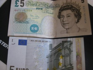 Euro Pounds Bills 2