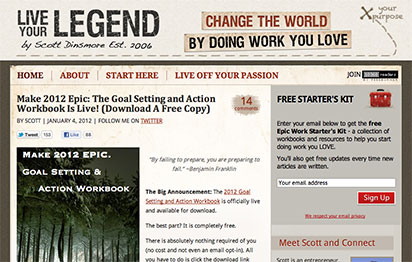 live your legend blog