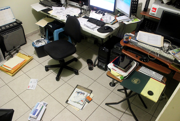 Sergio Felix Office Mess and Paperwork