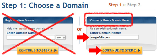 setting main domain name in hostgator
